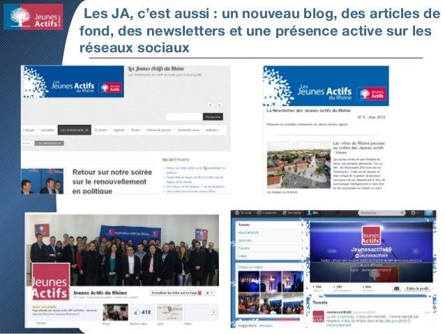 Les JA, c'est aussi : un nouveau blog, des articles de fond, des newsletters et une présence active sur les réseaux sociaux