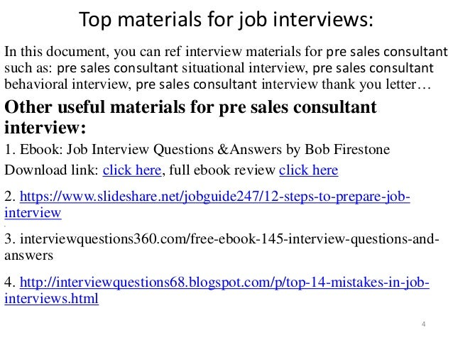 42 pre sales consultant interview questions and answers pdf