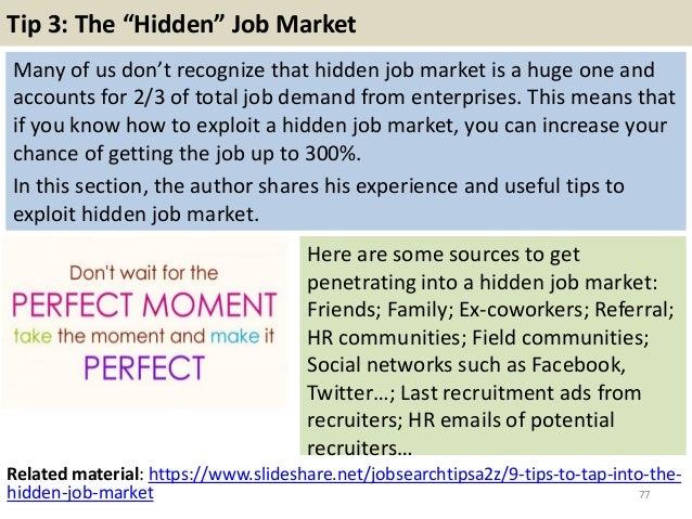 Attractive Tip 3: The U201cHiddenu201d Job Market .