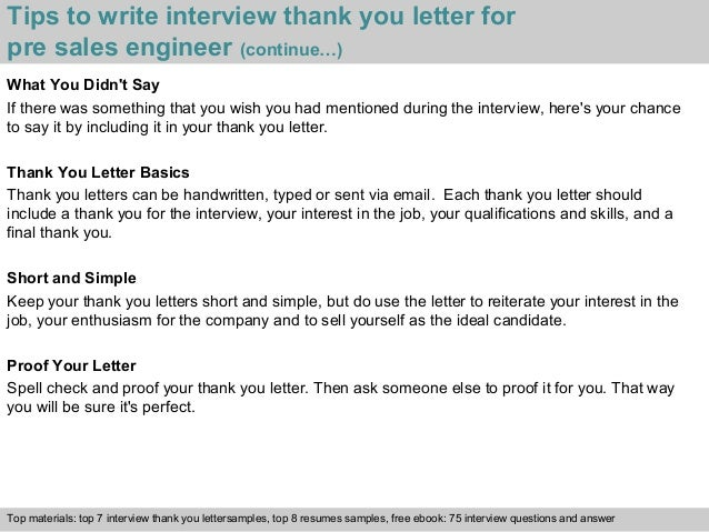 Exceptional Tips To Write Interview Thank You Letter For Pre ...