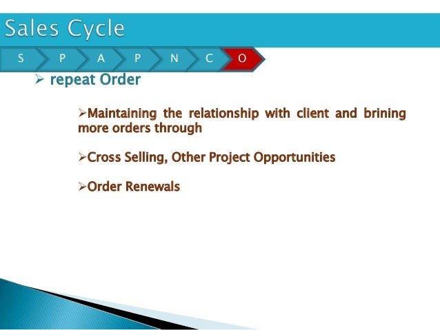 S      P      A     P     N     C    O     repeat Order           Maintaining the relationship with client and brining  ...