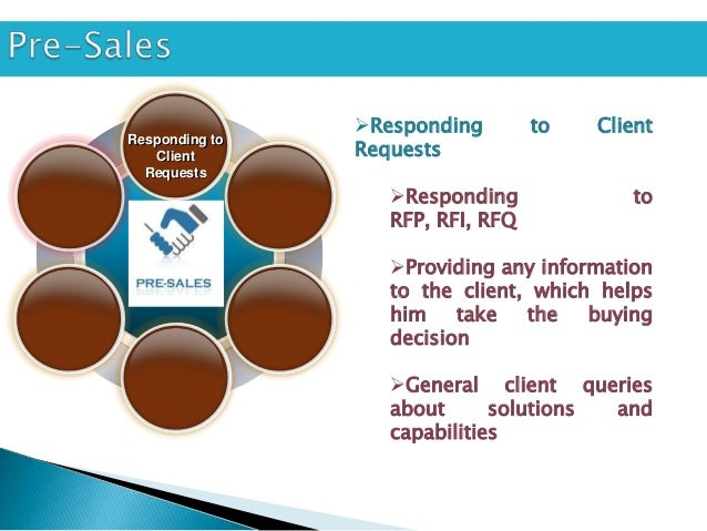 Supporting Client VisitsResponding to   Client  Requests                        Prospects / clients may                 ...