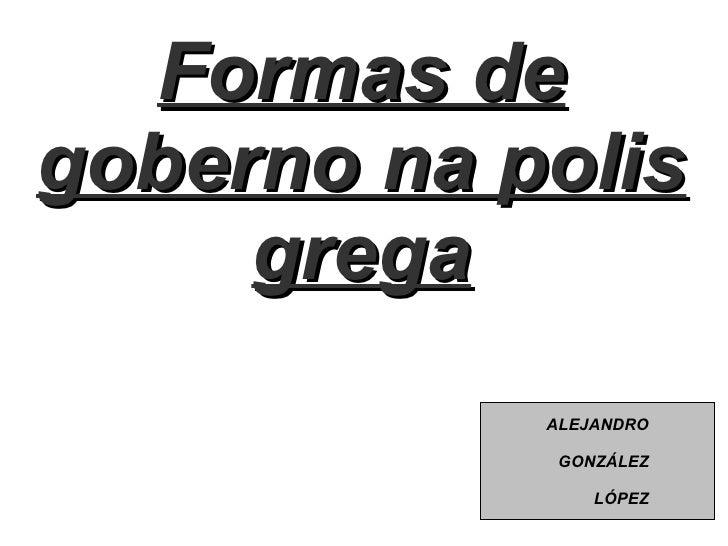 Formas de goberno na polis grega