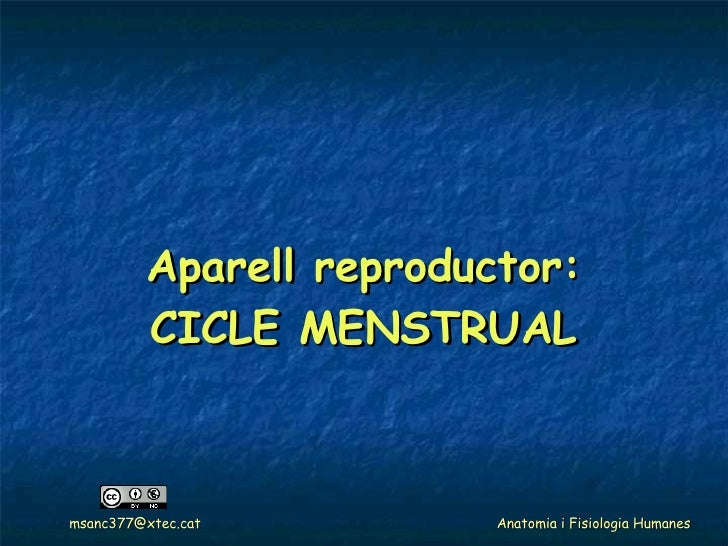 Aparell reproductor: CICLE MENSTRUAL