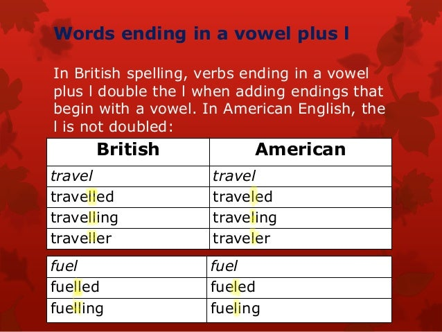 American Spelling Of Traveling Or Travelling
