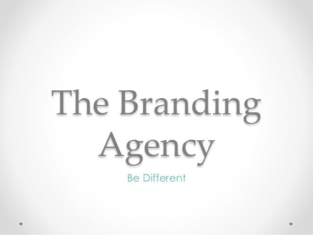 The Branding Agency Be Different