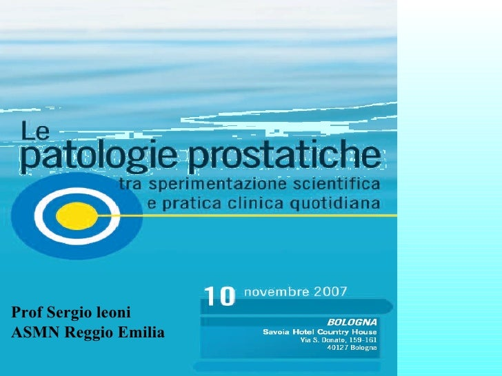 Prof Sergio leoni ASMN Reggio Emilia