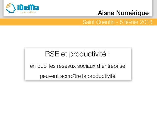 Le Média c'est Vous                  Aisne Numérique                              Saint Quentin - 5 février 2013          ...