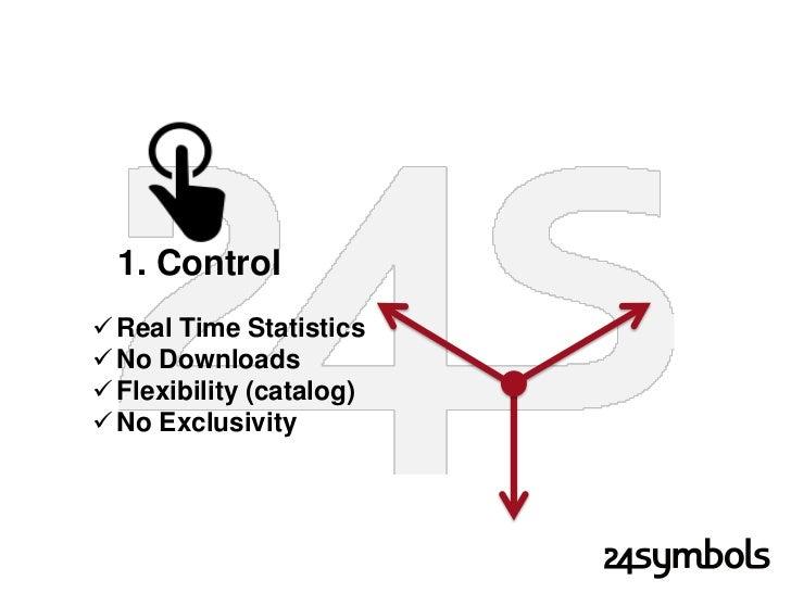 1. Control Real Time Statistics No Downloads Flexibility (catalog) No Exclusivity