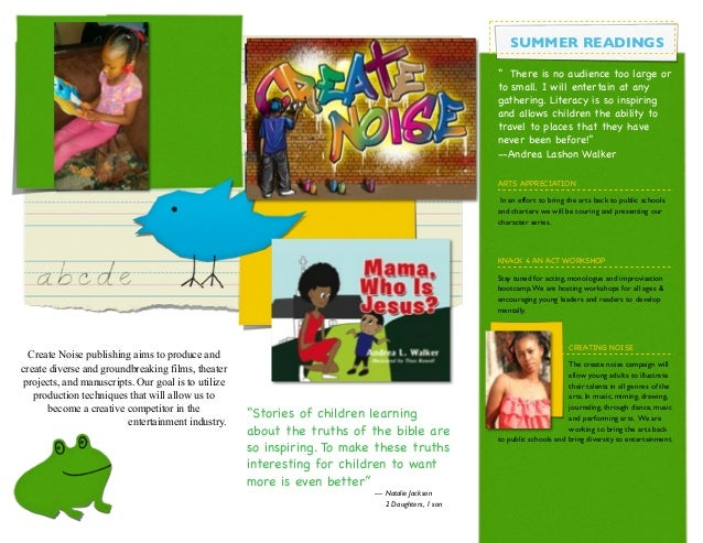 preschool brochure with icons