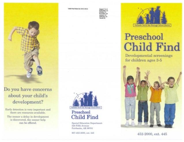 Preschool child find brochure school year 2013 2014