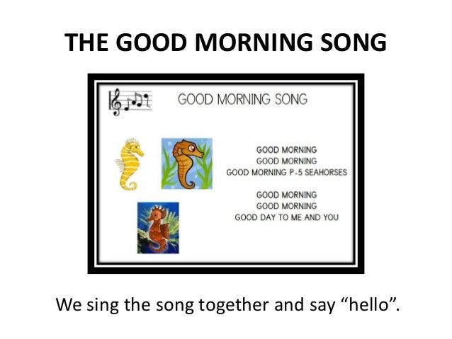 Preschool english 3 the good morning song m4hsunfo