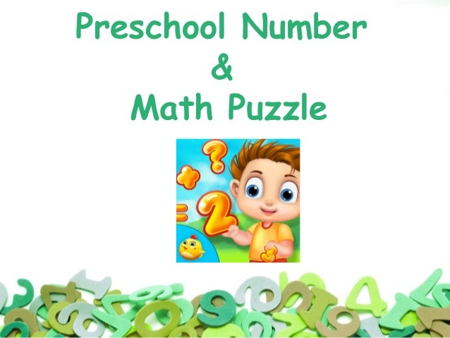 Preschool Number & Maths Puzzle