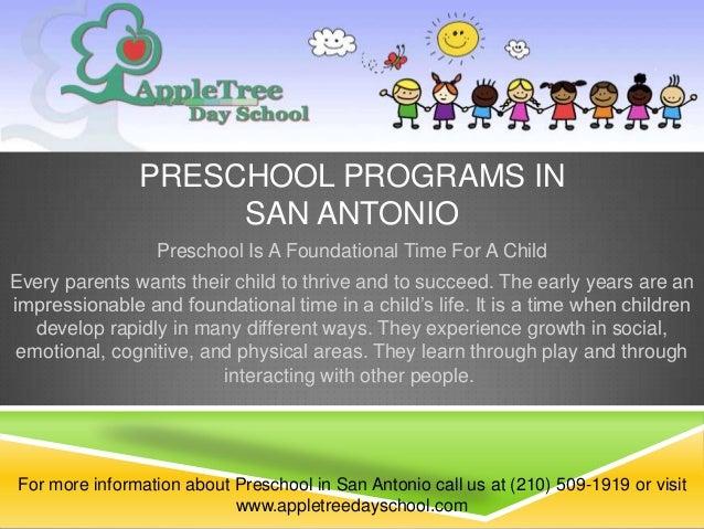 PRESCHOOL PROGRAMS IN                    SAN ANTONIO                 Preschool Is A Foundational Time For A ChildEvery par...