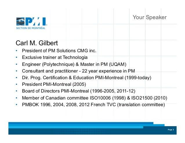 Présentation Des Certifications Pmi Rmp Et Pmi Acp