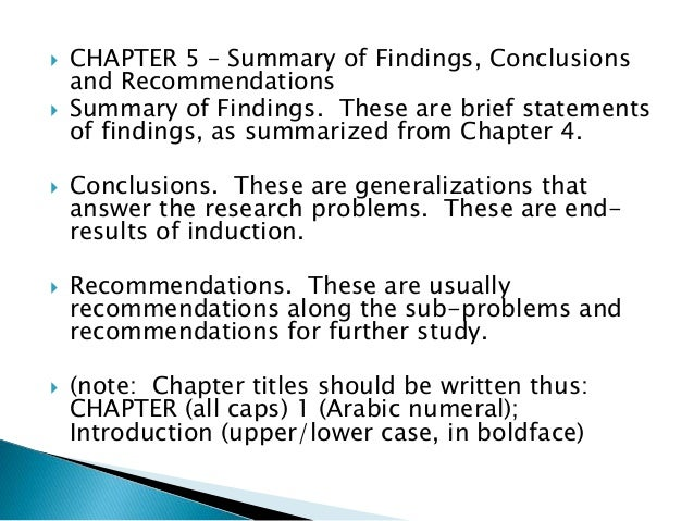 thesis chapter 5 parts Lunch time seminar  4 and 5 of your thesis or dissertation, peruse other similar  writing chapter 5 recommendations for future research.