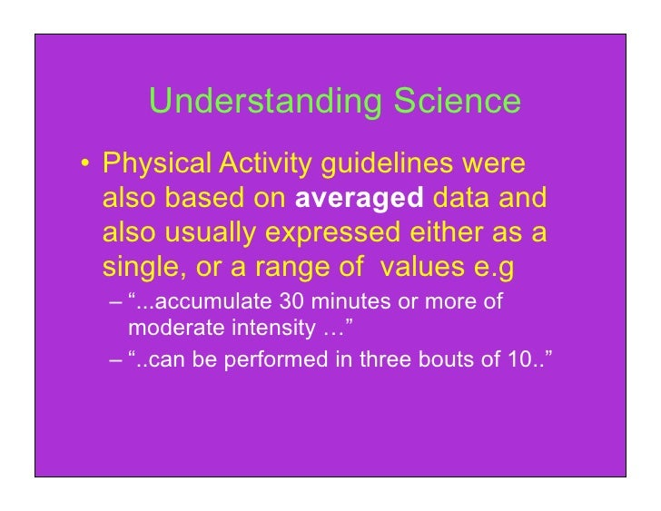 4 thing physical guidelines for adults