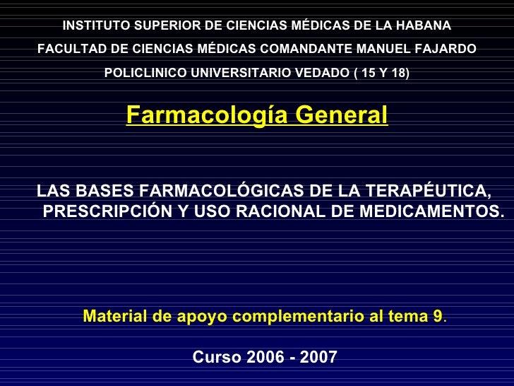 PRINCIPIOS BASICOS DE LA PRESCRIPCION Profa.: Vanessa Chandler Newball Ibuprofeno 400 mg  # 30 Sig, 1 tab. v.o. TID x  3 d...