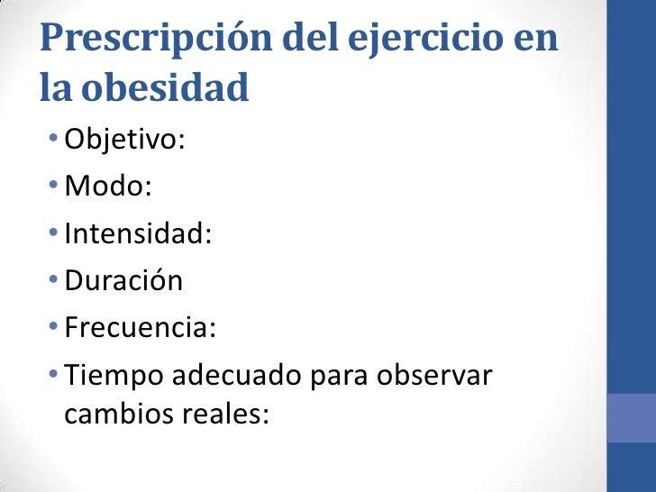 Prescripción del ejercicio en la obesidad y en la diabetes