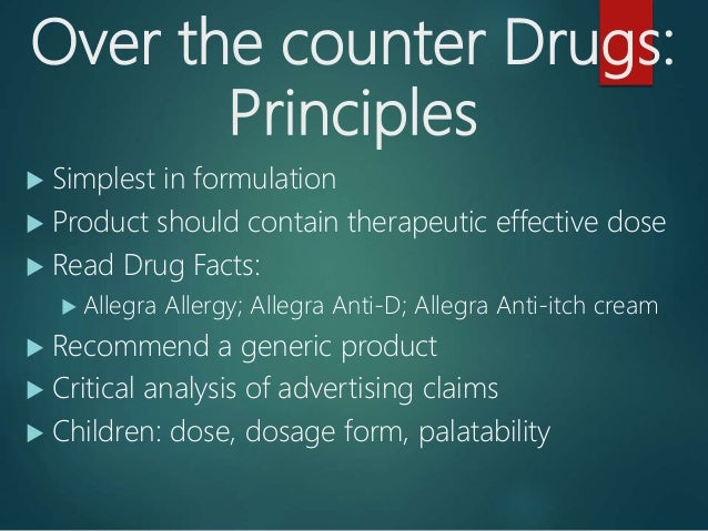 Prescription Drugs Amp Over The Counter Drugs 2017