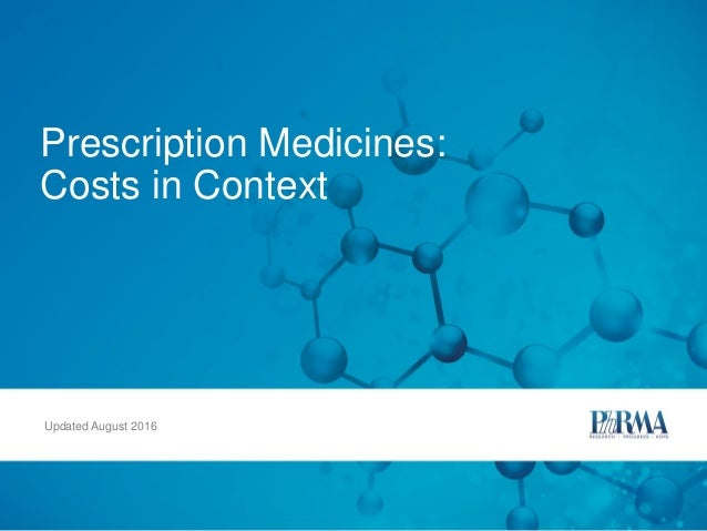 Prescription Medicines: Costs in Context Updated August 2016