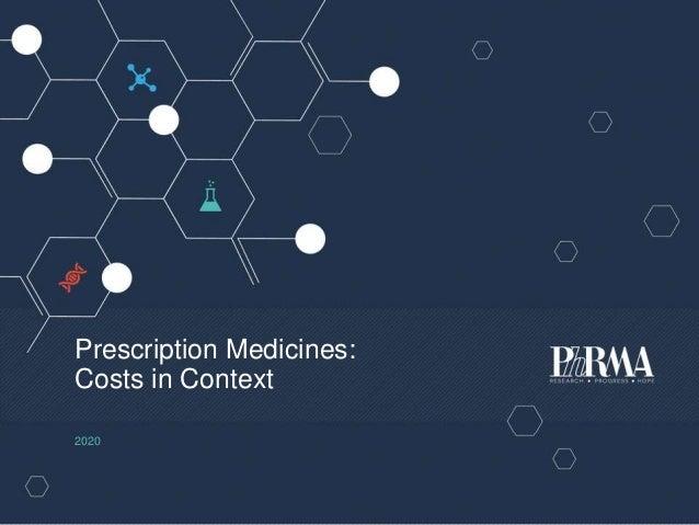 Prescription Medicines: Costs in Context 2020