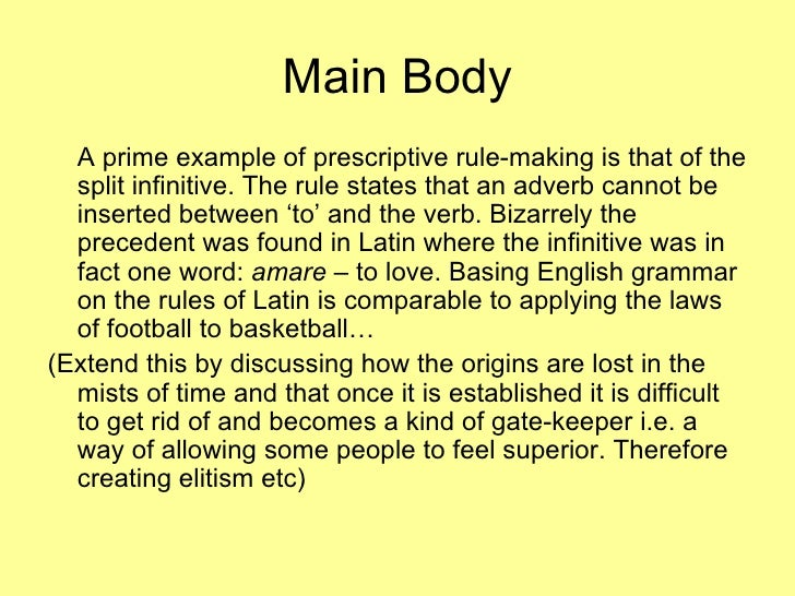 prescriptive essay Descriptive and prescriptive laws: one of the best examples of the confusion between descriptive and prescriptive laws was the controversy over the work of alfred e kinsey, the indiana university biology professor who published two large books describing his survey of sexual behavior obtained from.