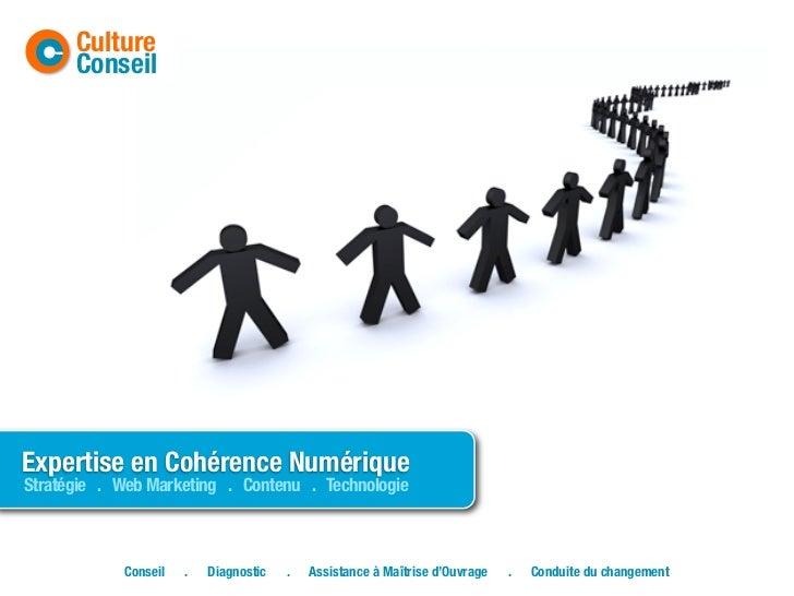 C    Culture      ConseilExpertise en Cohérence NumériqueStratégie . Web Marketing . Contenu . Technologie            Cons...