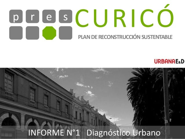 CURICÓr e sp PLANDERECONSTRUCCIÓNSUSTENTABLE INFORME N°1 Diagnóstico Urbano