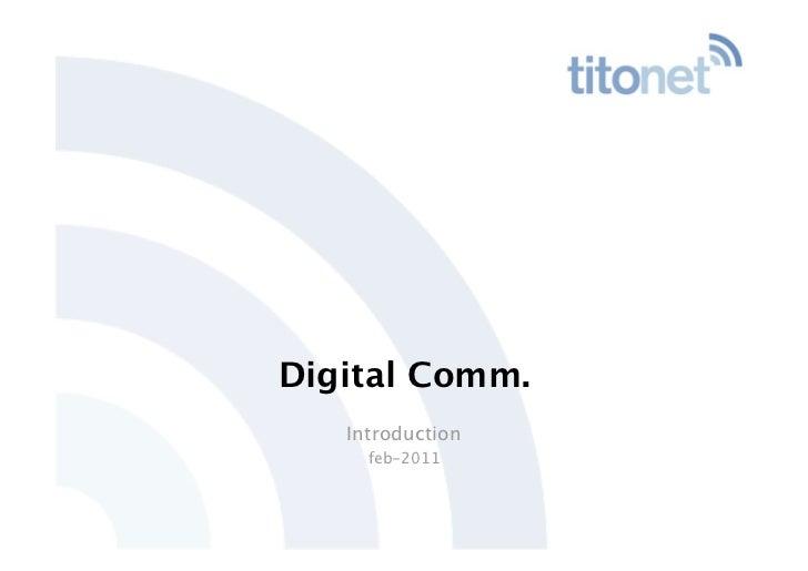 Digital Comm.   Introduction     feb-2011
