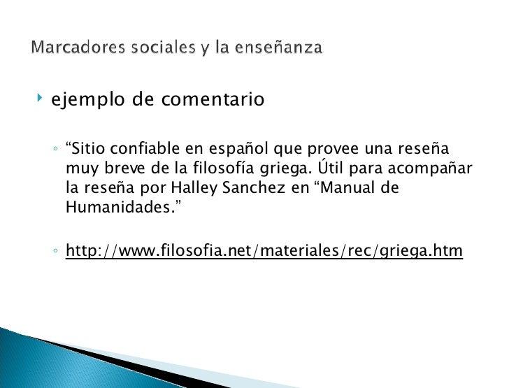 """<ul><li>ejemplo de comentario </li></ul><ul><ul><li>"""" Sitio confiable en español que provee una reseña muy breve de la fil..."""
