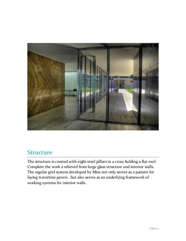 Precedence Study Barcelona Pavilion