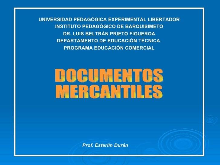 UNIVERSIDAD PEDAGÓGICA EXPERIMENTAL LIBERTADOR INSTITUTO PEDAGÓGICO DE BARQUISIMETO DR. LUIS BELTRÁN PRIETO FIGUEROA DEPAR...