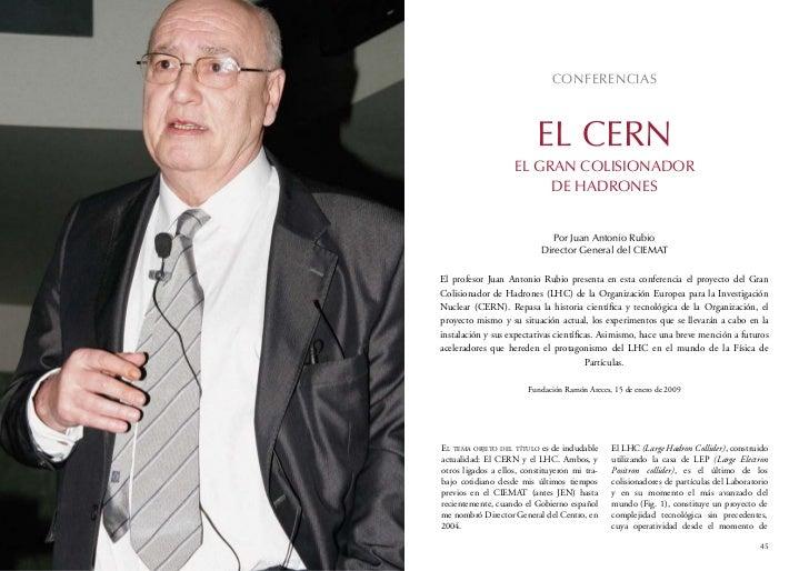 CONFERENCIAS                          EL CERN                    EL GRAN COLISIONADOR                         DE HADRONES ...