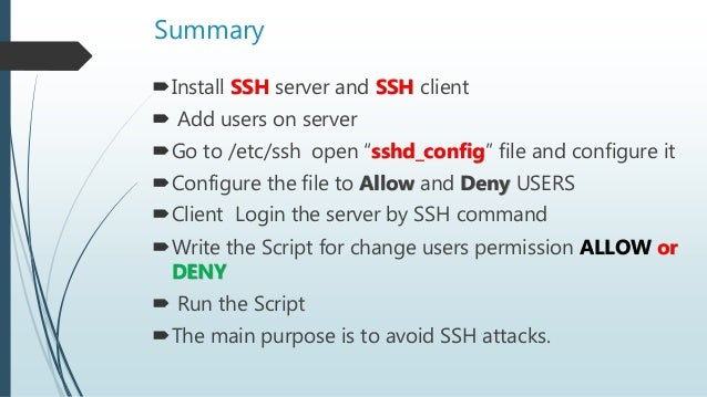 Avoid from SSH attacks