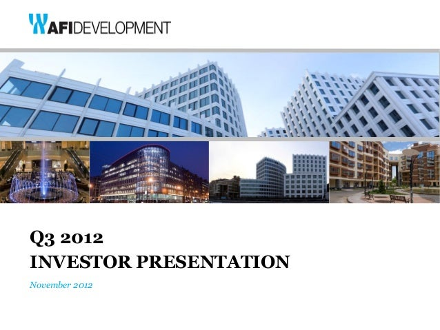 Q3 2012INVESTOR PRESENTATIONNovember 2012