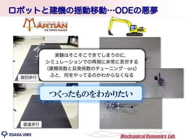 OSAKA UNIV. MechanicalDynamics Lab.