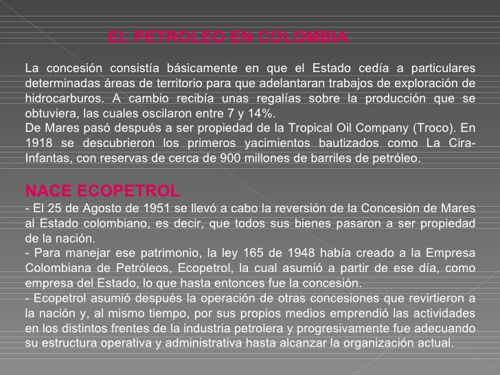 EL PETROLEO EN COLOMBIA Refineria de Cartagena