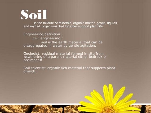 Soil for Mineral soil definition