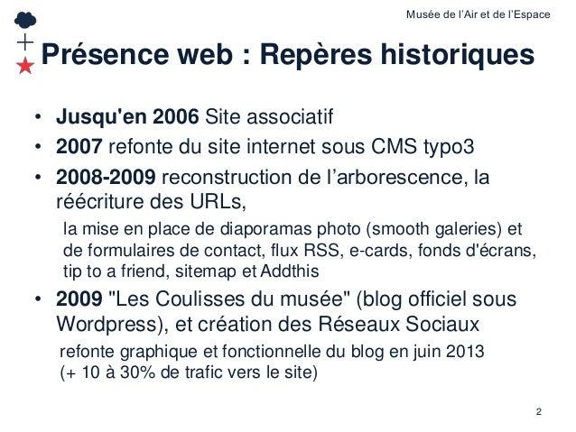 La présence en ligne du musée de l'Air et de l'Espace de Paris - Le Bourget Slide 2
