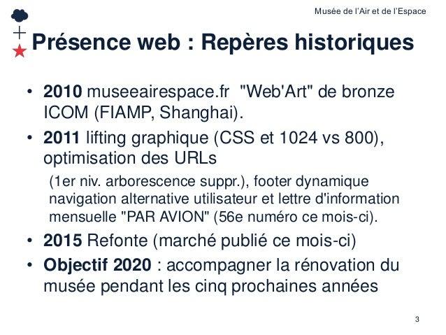La présence en ligne du musée de l'Air et de l'Espace de Paris - Le Bourget Slide 3