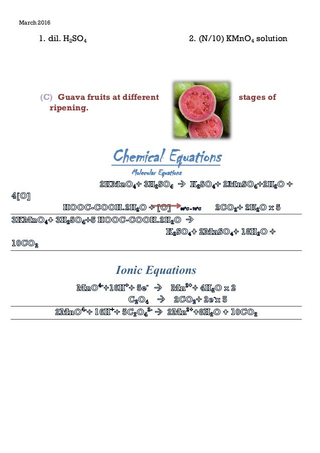 Presence of oxalate ion in guava