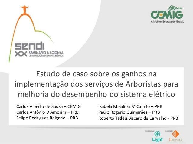 Estudo de caso sobre os ganhos naimplementação dos serviços de Arboristas para melhoria do desempenho do sistema elétricoC...