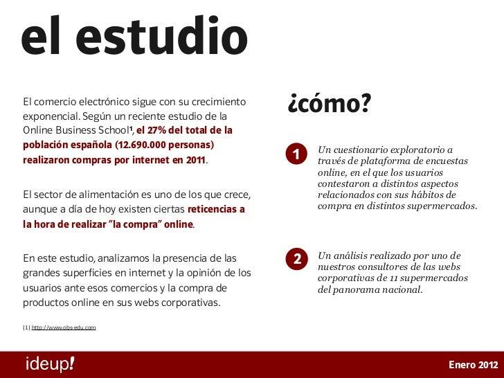 Estudio de presencia online de supermercados en España Slide 2