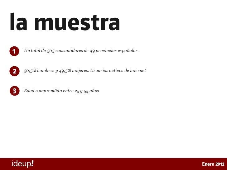 Estudio de presencia online de supermercados en España Slide 3