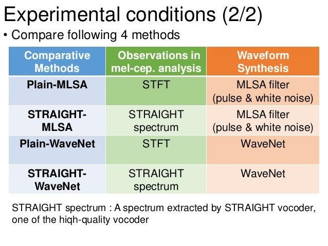 Speaker Dependent WaveNet Vocoder