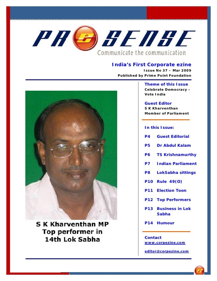 India's First Corporate ezine               Issue No 37 – Mar 2009   Published by Prime Point Foundation                Th...