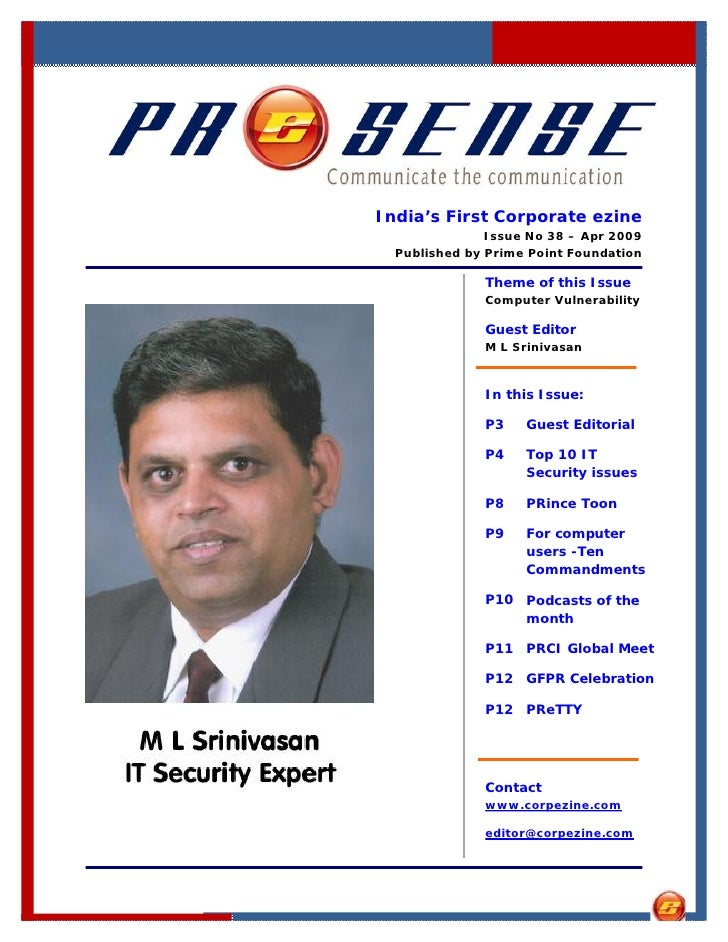 India's First Corporate ezine                Issue No 38 – Apr 2009   Published by Prime Point Foundation                T...