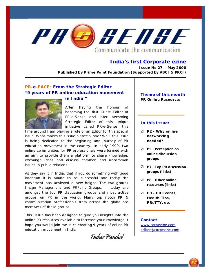 India's first Corporate ezine                                                            Issue No 27 – May 2008           ...