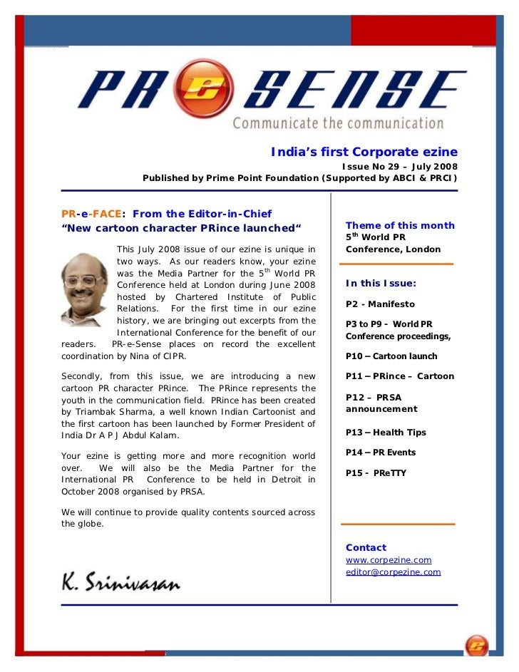 India's first Corporate ezine                                                            Issue No 29 – July 2008          ...
